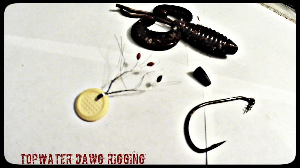 topwater dawg, topwater fishing, owner twist lock hook, bobber stopper, bass fishing