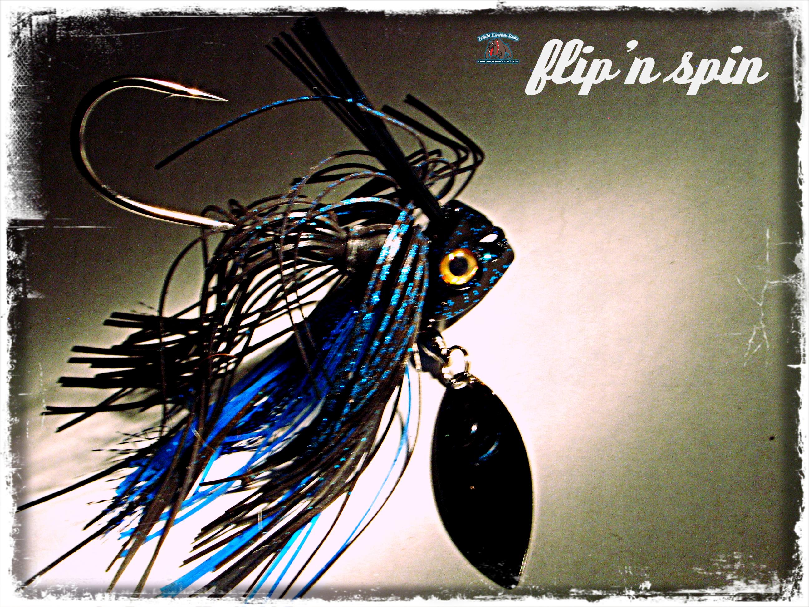 d&m custom baits flip 'n spin