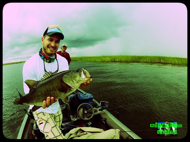 pieter's big bass on lake okeechobee